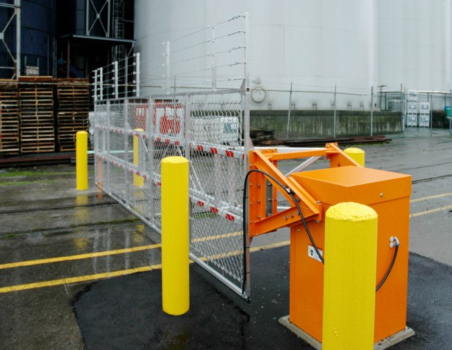 Automatic systems barrier