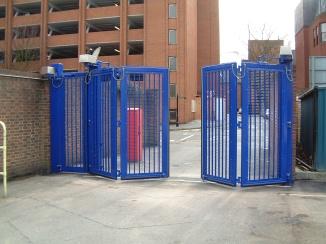 Zabag bi-folding gate with Daab drives