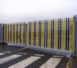 Zabag Free-carrying sliding gate with palisade infil
